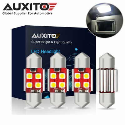4XAUXITO 31MM//36MM//41MM FESTOON LED CANBUS INTERIOR DOME NUMBER PLATE LIGHT BULB