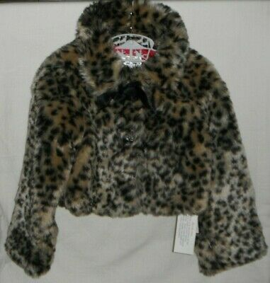 St Bernard (Dunnes) Leopard Print Fun - Fur Jacket Age 2-3 Years  New With Tags