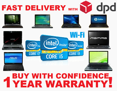 CHEAP FAST INTEL CORE i3/ i5/ i7 LAPTOP WIN 7/10 250GB/500GB HD 4GB/8GB RAM WiFi