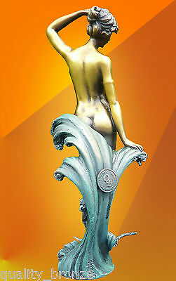 Hot Cast Bronze Statue Preiss Wave Art Deco Signed Statue Sculpture Figure