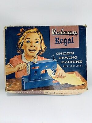 Vintage Toy Child's Vulcan Sewing Machine 1950s Boys Girls Collectible Rare