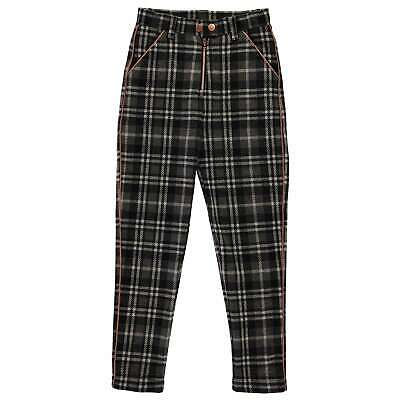 Firetrap Tapered Trousers Youngster Girls Pants Bottoms Zip Stamp All Over