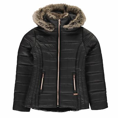 Firetrap Luxury Bubble Jacket Youngster Girls Puffer Coat Top Full Length Sleeve
