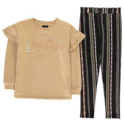 Firetrap Pearl Pullover and Leggings Set Youngster Girls Fleece Tracksuit Pants