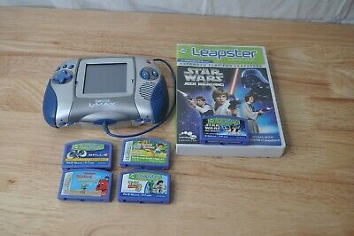 Leap Frog Leapster L-Max Handheld Gaming System And 5 Games *TESTED WORKS*