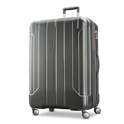 "Samsonite Hardside Luggage, On Air 3, spinner 25"", charcoal grey."