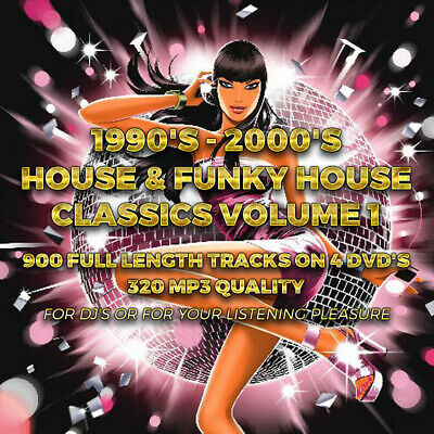 House & Funky House Classics Vol 1 - 900 Full Length Tracks On DVD 320 MP3