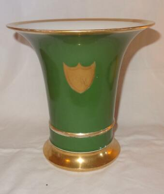 Large 19th Century French Porcelain Trumpet Vase on Stand - Old Paris
