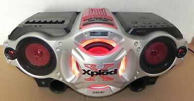 Sony Cfd-G700Cp Cd Cassette Am/Fm Radio Boombox Xplod Portable
