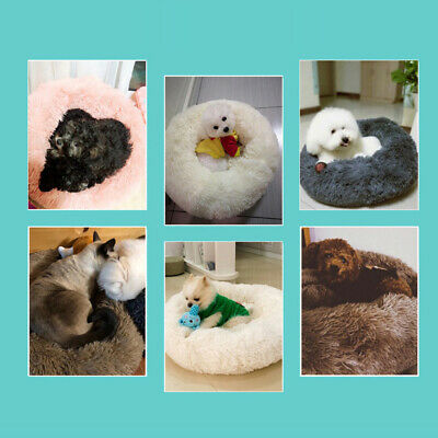 Comfy Calming Dog/Cat Bed Round Super Soft Plush Pet Bed Marshmallow Pet Bed