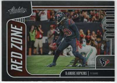 2019 Panini Absolute Football Red Zone #12 DeAndre Hopkins Texans