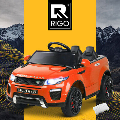 Rigo Kids Ride On Car 12V Electric Battery Remote Toy Children Cars Orange