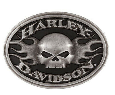 Harley-Davidson Men's Oval Roaring Flames Willie G Belt Buckle HDMBU11701