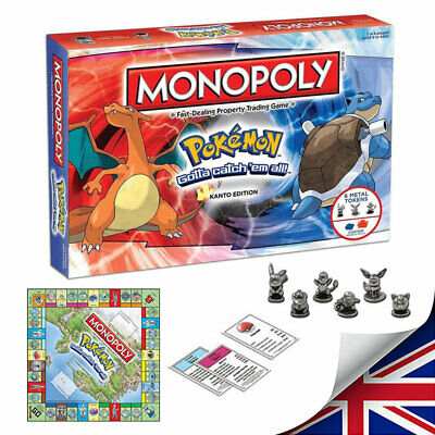 Pokemon Go MONOPOLY -Perfect Family Party Card Game Board Game Toys Xmas Gift UK