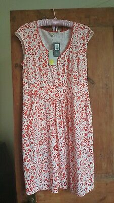 Ladies Pretty Red & White Summer Dress Brand New With Tags Size 16