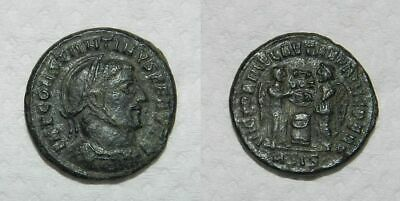 ANCIENT ROME : CONSTANTINE I 307-337 A.D. - Ae Follis -  Two Victories - VF