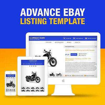 Advance eBay Listing Template Fully Customize Free Tools 2019 HTTPS Ready