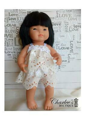 Miniland doll 2pcs set outfit Lace (MADE IN PERTH)