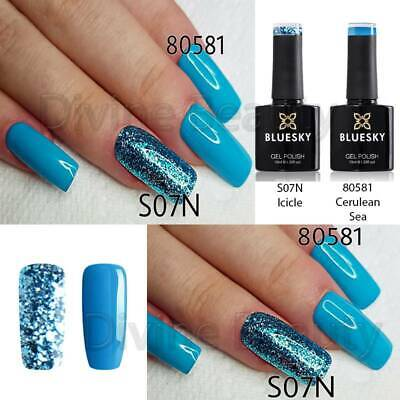 Bluesky Duo S07N & 80581 UV/LED Soak Off Nail Gel Polish 10ml Free P&P