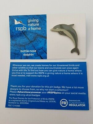 RSPB HAWFINCH charity pin badge GNAH BRAND NEW DESIGN CARD