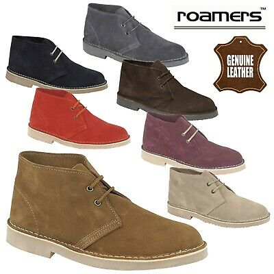 Roamers Men's & Boys Real Suede Leather Desert Boots 2 Eye - CLEARANCE SALE