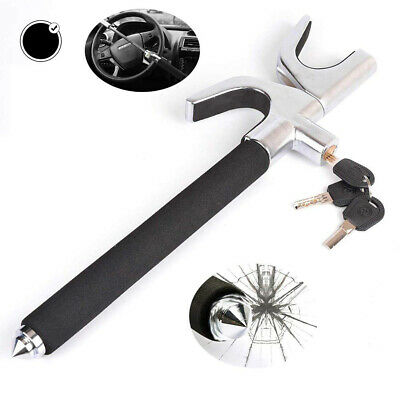 Car Auto U-shaped Steering wheel lock Adjustable Anti-Theft Safety Cone + 3 Keys
