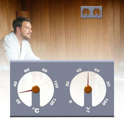 Aluminum Hygrothermograph Double Dial Thermometer Hygrometer Sauna Accessory