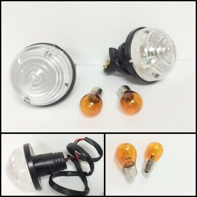 Classic Mini Front Indicator Unit Replacement Plastic Lens PAIR Clear 1986-2000