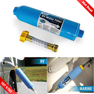 Camco Tastepure Kdf Carbon High Flow Inline Rv Water Filter 40045 2 Pack 29 79 Picclick