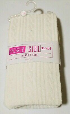 The Childrens place Toddler Girls white Tights Size 10-12 new winter
