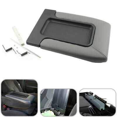 Center Console Lid Armrest Cover Gray For 1999-2007 Chevy GMC Silverado Sierra
