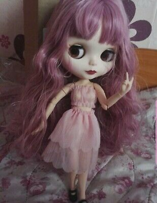 """12/""""Hatsune Miku Neo Blythe Doll from Factory Green/&Yellow Hair Nude Doll"""