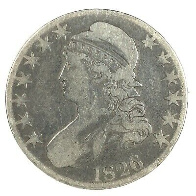 1826 United States Capped Bust Half Dollar - VF - Cleaned