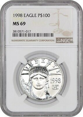 1998 Platinum Eagle NGC MS69 - Statue Liberty 1 oz