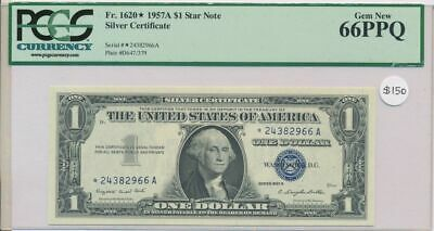 USA 1957A $1 Star Note Silver Certificate UNC PCGS 66PPQ