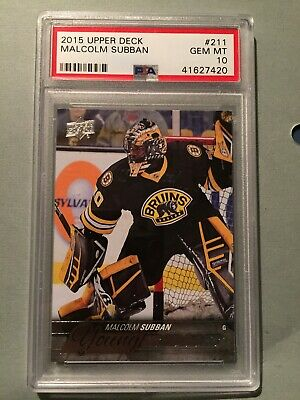 2015-16 Upper Deck Young Guns Malcolm Subban Card Nice Rc Rookie Psa 10