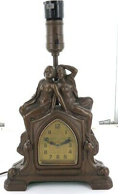 .Stunning / Large American Combination Clock & Electric Lamp Ornament.