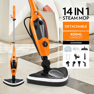 Maxkon 14in1 Steam Mop Cleaner Handheld Floor Carpet Cleaning Wash w/Accessories
