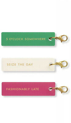 Kate Spade New York Planner Accessories Charm Set Of 3 FASHIONABLY LATE New