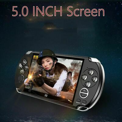 8GB 5.0'' Handheld PSP Game Console Player Built-in Games Portable Consoles Gift