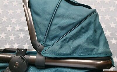 Mothercare Orb Teal Seat / Carrycot Unit All Terrain Model with Straps & Hood