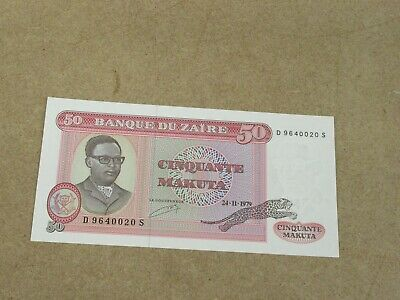 Banknote (uncirculated condition)  Zaire 50