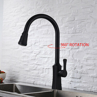 Swivel Stream 360 Degree Rotatable Basin Mixer Tap Modern Pull Out Kitchen Sink