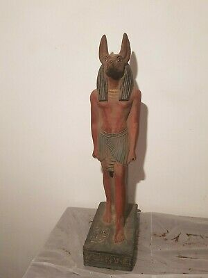 Rare Antique Ancient Egyptian Statue God Anubis museum Mummy Dead pro1760-1690BC