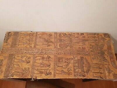 Rare Antique Ancient Egyptian linen Cover mummy Book Of Dead museum1580-1507BC
