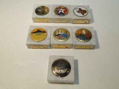 Collection 3M Electrical Exposition Marble Paperweights 7 in All