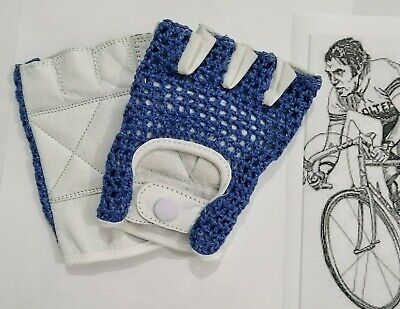 Vintage Style France Flag Crochet Mitts Cycling Gloves