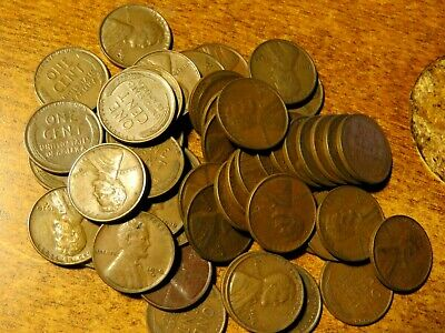 Full Roll Of 50 Better Date 1930-D Lincoln Cents Nice Coins Very Fine/Better