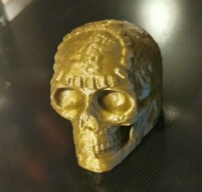Gold 3D Printed Aztec Mayan Death Whistle