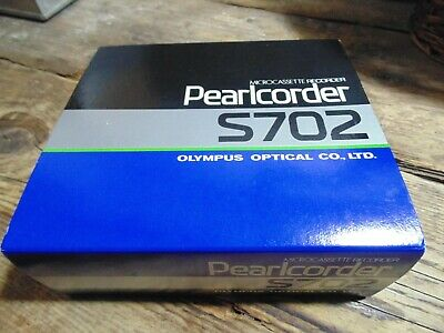 Olympus Pearlcorder S702 New, Boxed, Unused With Microcassette Tape, Earphone